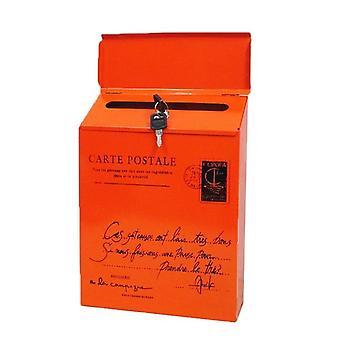 רטרו וינטג רכוב על הקיר תיבת דואר דואר דואר דואר עיתון עמיד למים תיבת כתום