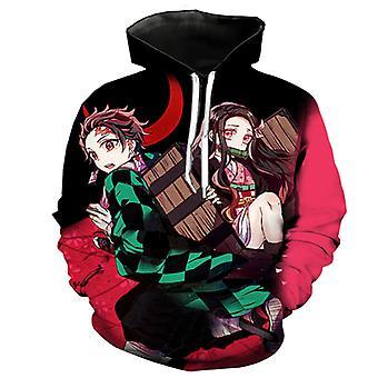 Japanese Anime Demon Slayer: 3d Digital Color Printing Cotton Hoodie