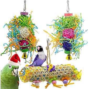 Pet Parrot rágó madár játék 3 részes készlet