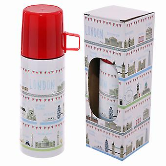 Puckator 350ml Flask, London Icons