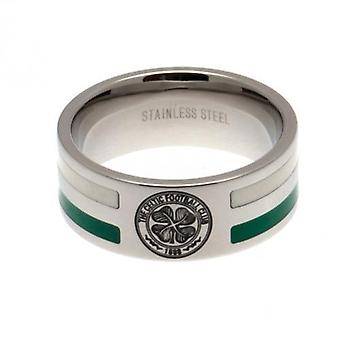 Celtic Colour Stripe Ring Large