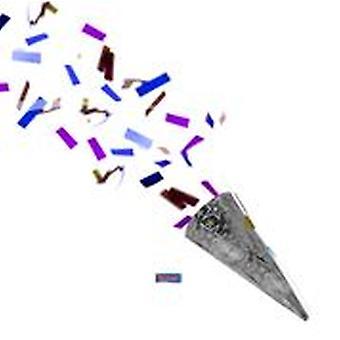 Partyshooter confetti atirador festa bolachas prata