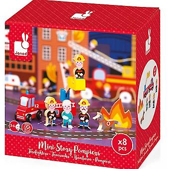Janod Wooden Mini Story Firefighters 3-6yrs