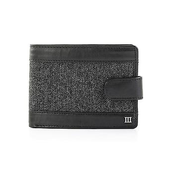 Tresanti Mens Leather Wallet With Grey Herringbone