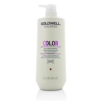 Goldwell Dual Senses färg Brilliance Shampoo (luminositet för fint till normalt hår)-1000ml/33,8 oz
