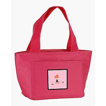 Carolines Treasures  BB5165PK-8808 Ballerina Red Head Jete Lunch Bag