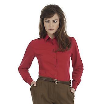 B&C Ladies Smart Long Sleeve Corporate Shirt-SWP63