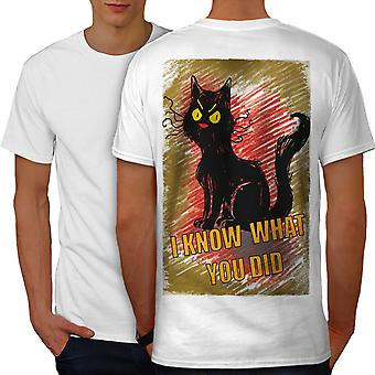 Spy Cat Men WhiteT-shirt Back | Wellcoda