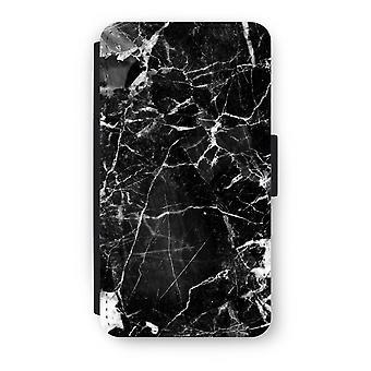 三星銀河 A3 (2016) フリップ ケース - ブラック大理石 2