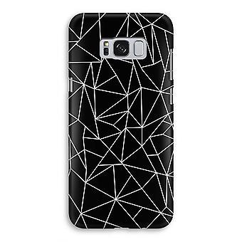 Samsung Galaxy S8 volledige Print geval (Glossy) - geometrische lijnen wit