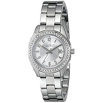Caravelle New York Women's 43M108 Analog Display Analog Quartz White Watch