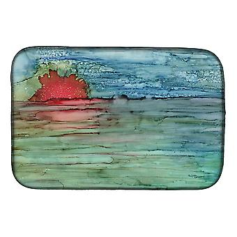 Carolines Treasures  8984DDM Abstract Sunset on the Water Dish Drying Mat