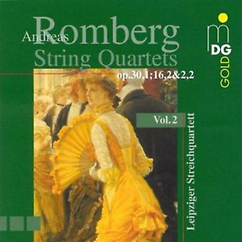 A. Romberg - Andreas Romberg: String Quartets, Vol. 2 [CD] USA import