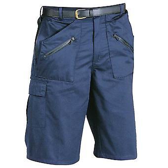 Portwest Mens handlingen Multipocket Workwear Shorts marinen svart