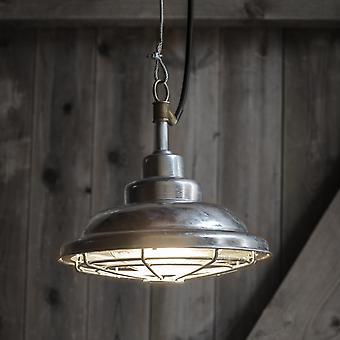 Jardín comercio a St Ives Mariner galvanizado lámpara colgante al aire libre