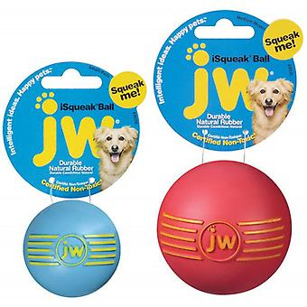 JW Pet iSqueak Rubber Ball hund leksak, stor storlek