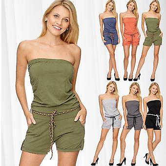 Ladies Jumpsuit Overall Shorts Shorts Hotpants short trousers Festival blog Summer Belt