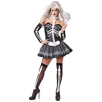 Skeleton Masquerade Ghost Day Of The Dead Mexican Halloween Woman Costume