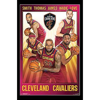 Cleveland Cavaliers - impresión del cartel de equipo