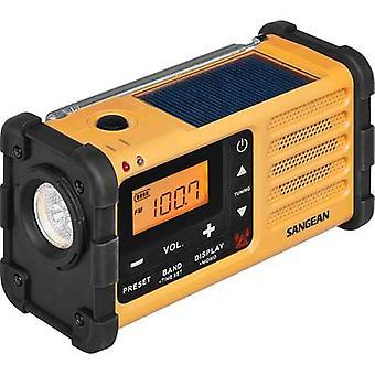 سانجان MMR-88 راديو FM في الهواء الطلق، AM شاحن البطارية، الشعلة، أسود قابل لإعادة الشحن، أصفر