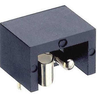 Connecteur d'alimentation de Lumberg NEB/J 21 R bas Socket, horizontal monter 6 mm 1,9 mm 1 PC (s)