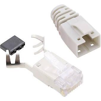 بيل ستيوارت SS39WSE موصلات RJ45 الموصل القط 6 8P8C RJ45 التوصيل، أبيض مستقيم