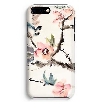 iPhone 8 Plus pełna obudowa głowiczki (błyszcząca) - Japenese kwiaty