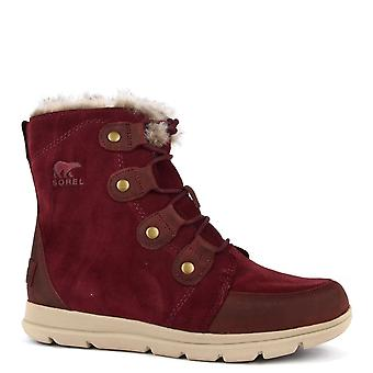 Sorel Explorer Joan Rich Wine Suede Boot