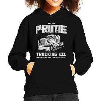 Transformers Inspired Prime Trucking Co Kid's Hooded Sweatshirt