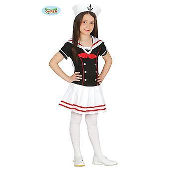 Guirca Matrosin Kostüm für Mädchen Matrosenkleid Mädchenkostüm Sailor Girl Seemann
