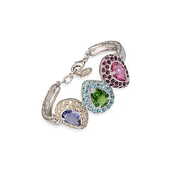Multicolor bracelets with crystals from Swarovski 6335