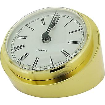 Gift Time Products Large Heavy Round Desk Clock - Gold