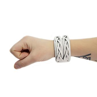 Armband Leder Twist-White
