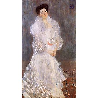 Porträt von Hermine Gallia, Gustav Klimt, 80x40cm