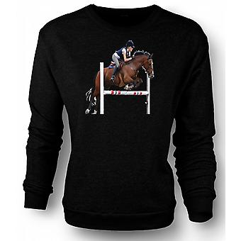 Mens Sweatshirt Show Jumping Horse