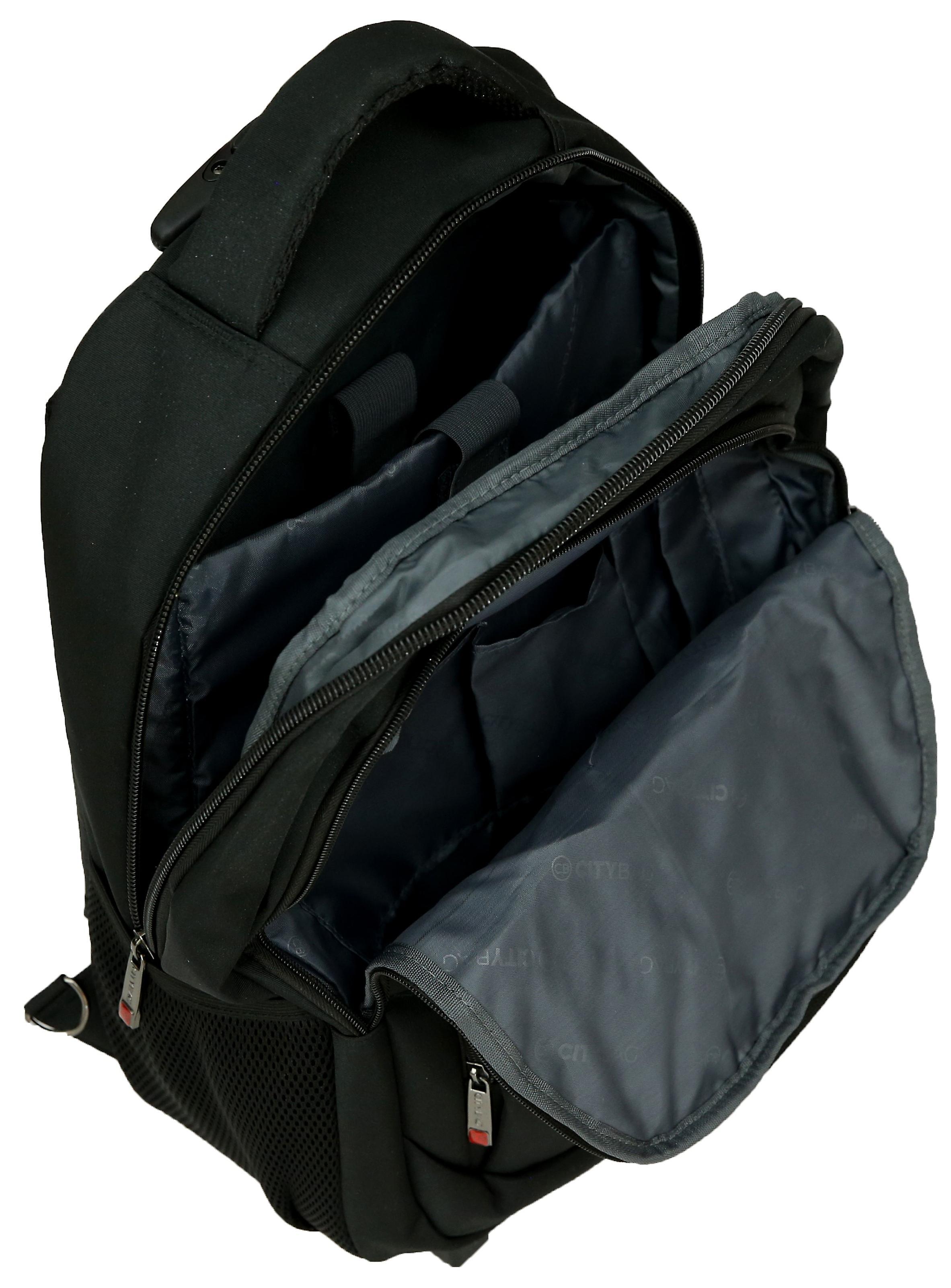 City Bag Hybrid Backpack On Wheels Laptop Trolley Wheeled Rolling 15.6