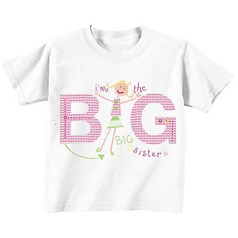 I'm The Big Sister Tshirt Professionally Illustrated