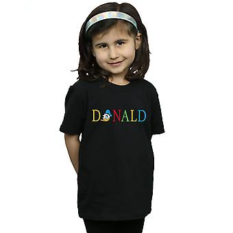 Ragazze Disney Donald Duck lettere t-shirt