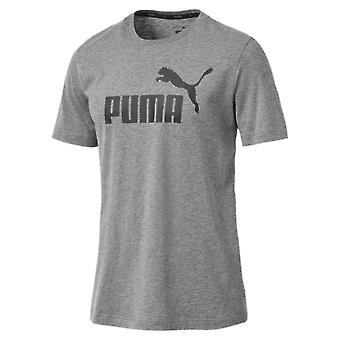Puma Essentials Logo Mens Sport Fashion Fitness Training T-Shirt grijs