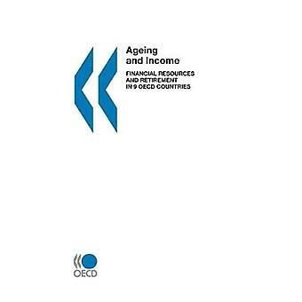 Envelhecimento e renda de recursos financeiros e aposentadoria em 9 países da OCDE, pela publicação da OCDE