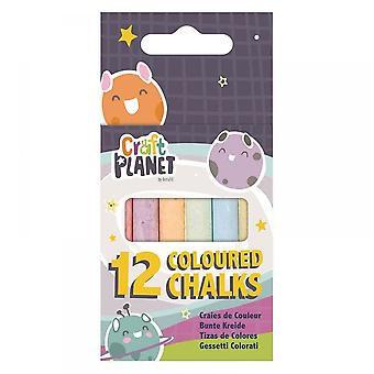 Craft Planet Coloured Chalk Box Of 12