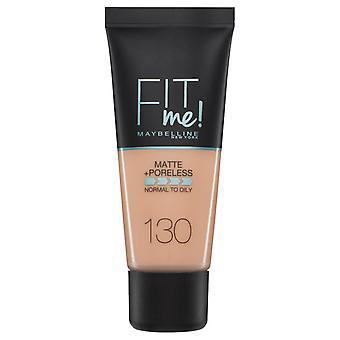 Maybelline Fit Me Matte + Poreless Foundation-130 Buff Beige