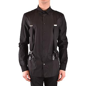 Moschino Ezbc015085 Men's Black Cotton Shirt
