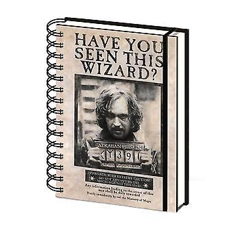 Harry Potter wilde Sirius Black A5 notebook