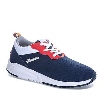 Womens Ellesse Siena Trainers In Navy White- Lace Up Closure- Padded Collar And