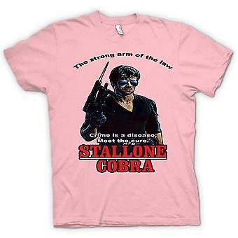 T-shirt Mens-Stallone - Cobra - Crime a doença