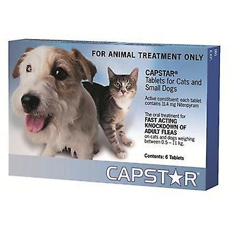Capstar små hunde og katte 0.5-11kg (2-25lbs) tabletter-6 Pack