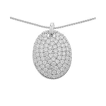 PENDANT WITH CHAIN BOMBE PAVE ZIRCONIUM