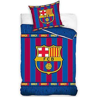 FC Barcelona Stripe Single Duvet Cover Set