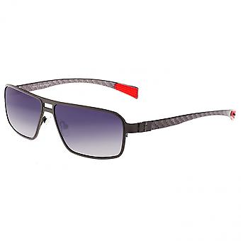 Breed Meridian Titanium and Carbon Fiber Polarized Sunglasses - Gunmetal/Black